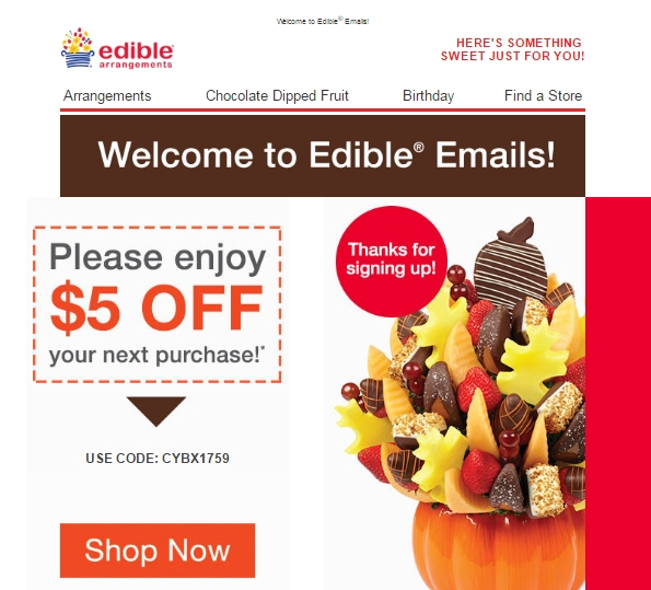 How to Redeem a Coupon Code at techriverku3.gq Edible Arrangements requires that you go through several steps before adding a promo code. Once you complete your shopping, you need to click on the bright red Continue button on the page. The website will then ask whether you want the item delivered or if you will pick it up. If you select delivery, you must pick the type of delivery.