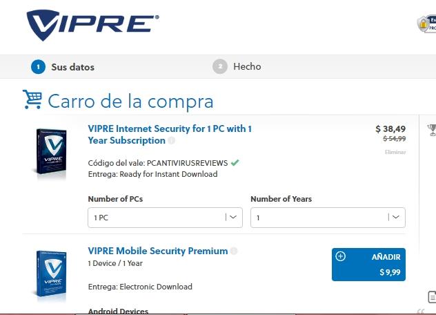 Vipre antivirus coupon 2018