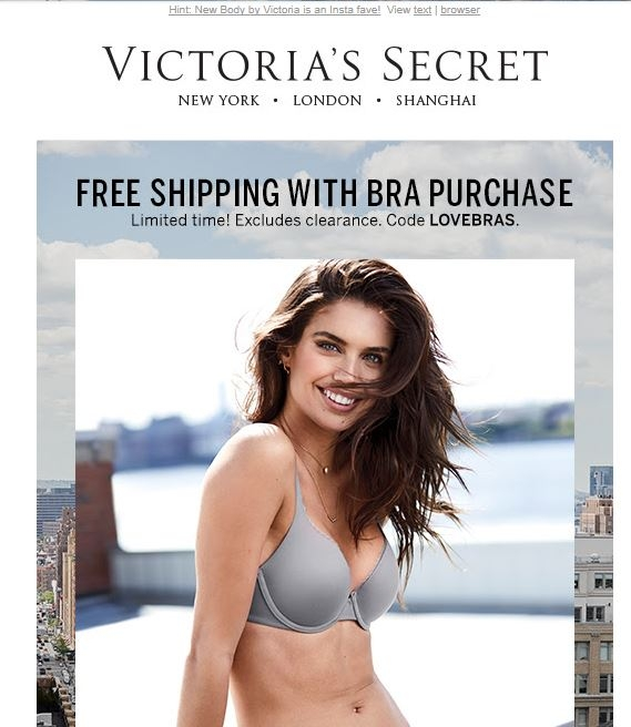 image relating to Victoria Secret 10 Off Bra Printable Coupon identify Victoria magic formula cost-free bra coupon / Lorex youngster watch digicam