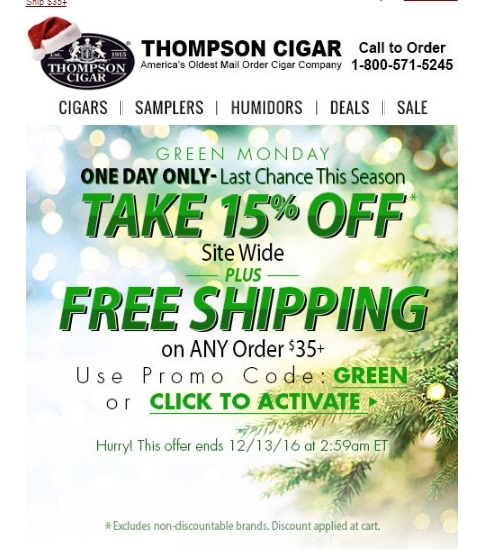 How to use Cigars International Coupons Check the banner ads at Cigars International to find promotional offers for free products with certain purchases, free shipping on select items and more%().