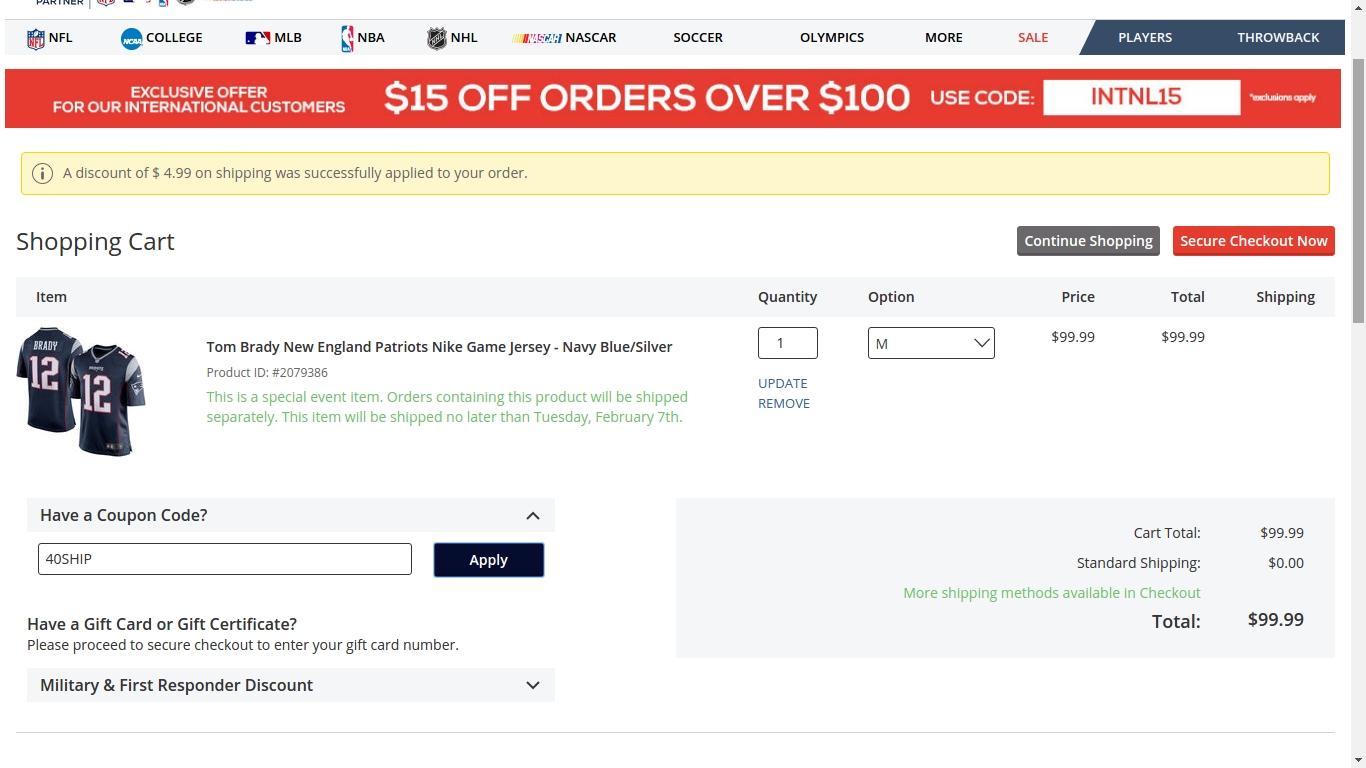 Free online coupons football fanatics