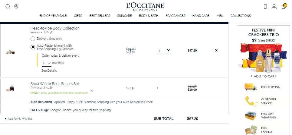 L occitane coupon code