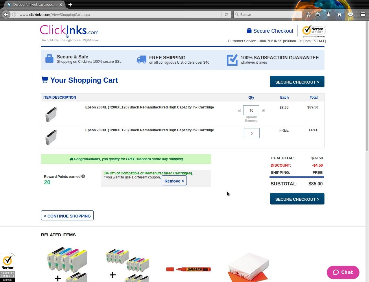 Clickinks discount coupons