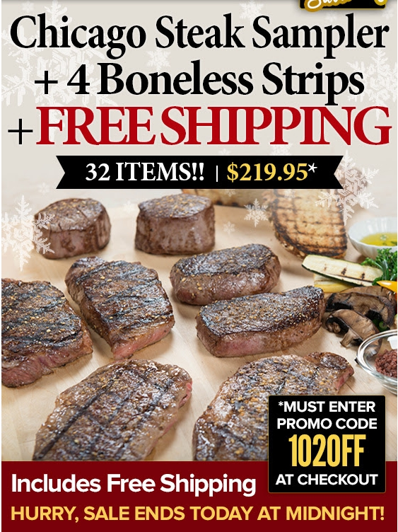 November - Find today's best Chicago Steak Company promo codes, coupons, and clearance sales. Plus, score instant savings with our Chicago Steak Company insider shopping tips.