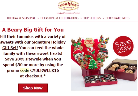 Cookies by design discount coupon code