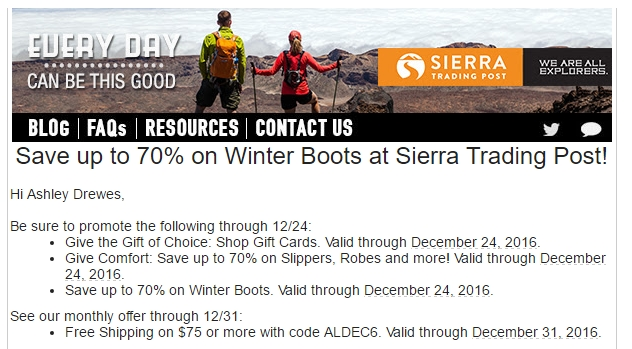 Sierra trading post coupon 40 off free shipping