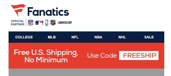 Fanatics coupon codes 2019