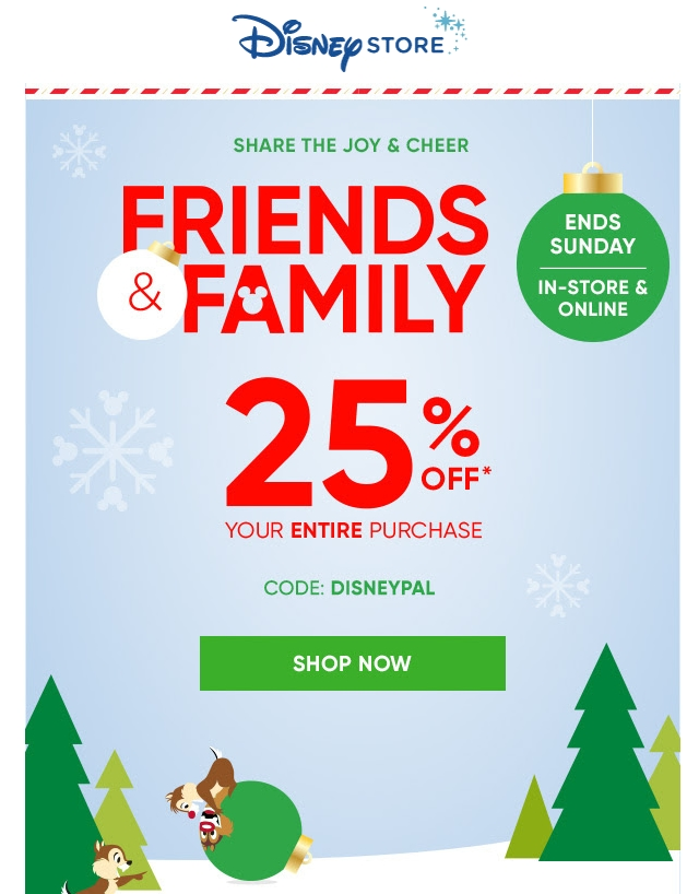 Get 25% off parks orders $ or more when you use the promo code at checkout.