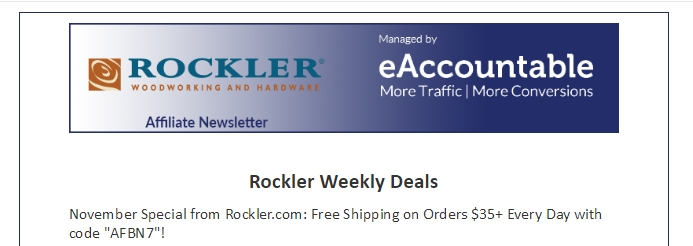 Rockler coupon code