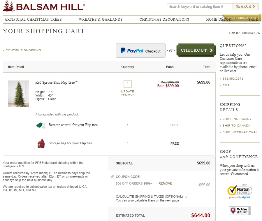 Coupon code balsam hill