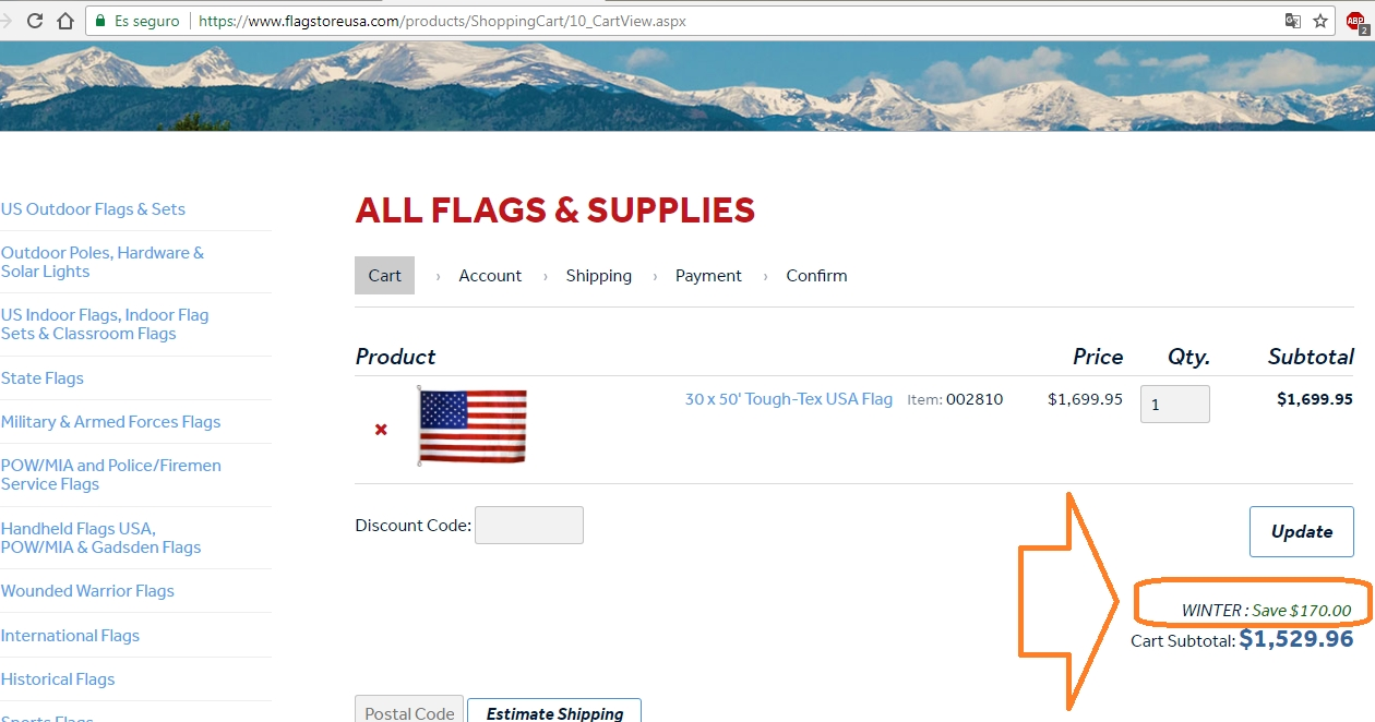Flag Store USA offers free shipping on their larger flags - no coupon needed. You can save up to 10% off your order of $ or more using the ongoing coupon code at the top of the homepage. There may be fan only exclusive offers on the Flag Store USA Facebook page so check there for more savings.