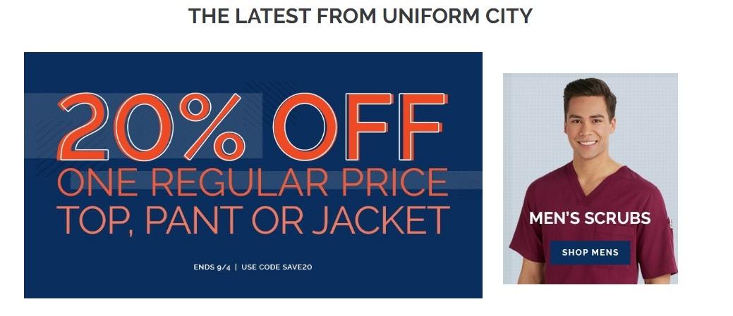 Uniform city coupon codes 10 off