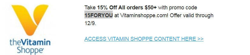 Vitamin Shoppe Coupons. Vitamin Shoppe offers health products including vitamins, supplements, protein, fitness, food, drinks and more. Use FREE Shipping & discount code below to receive more value on your purchase.