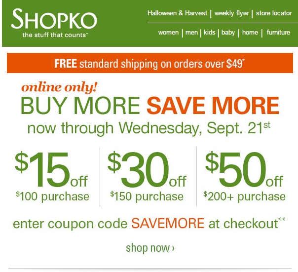 Shopko printable coupons