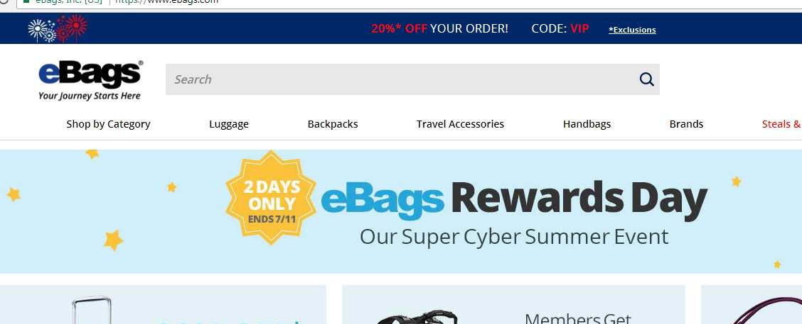 Ebags.com Coupon & Promo Codes